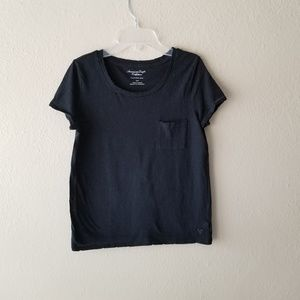 American Eagle Favorite Pocket TShirt Black